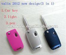 3 in 1 special car key(light pen ,car key pen ,pen)