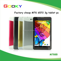 7 inch MTK6572 Tablet PC 4GB Android 4.4 Dual Core 3G WCDMA Phablet Camera GPS Cell Phone WIFI Bluetooth Dual SIM Metallic Body