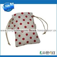 Fashion Dots Cosmetic Linen Fabric Bag