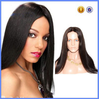 100% Indian Remy Hair U part wigs silk straight lace front wigs for black women