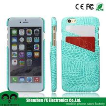 credit card holder wallet crocodile pu leather fancy back cover for iphone 6