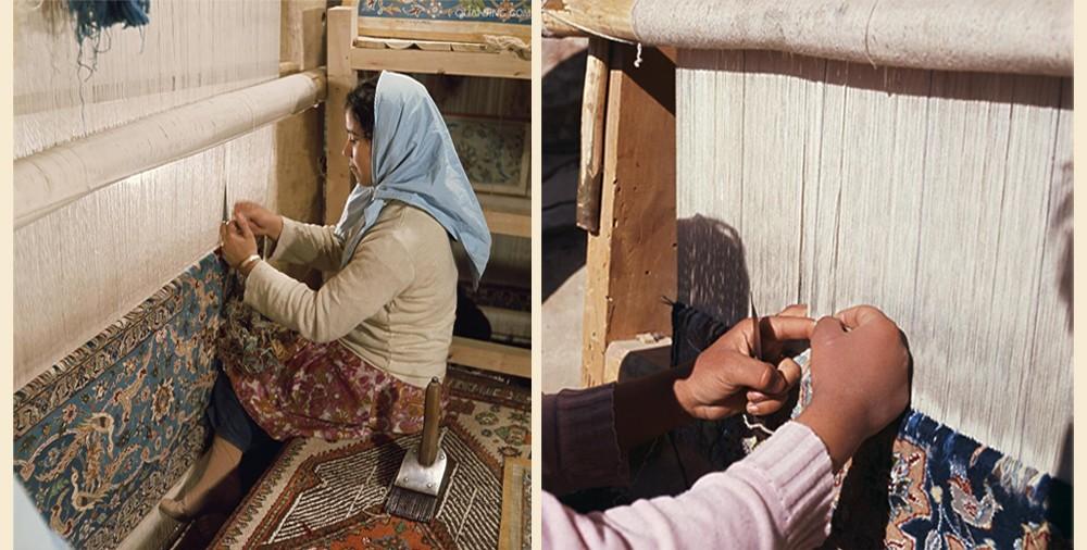 hand knotting silk rug.jpg