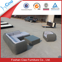 Unique sectional shape sofa rattan outdoor furniture wicker garden furniture