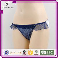 Made in China Moder Stylish Cute Girl Transparent Sexy G-String Panty Girl'S Underwear