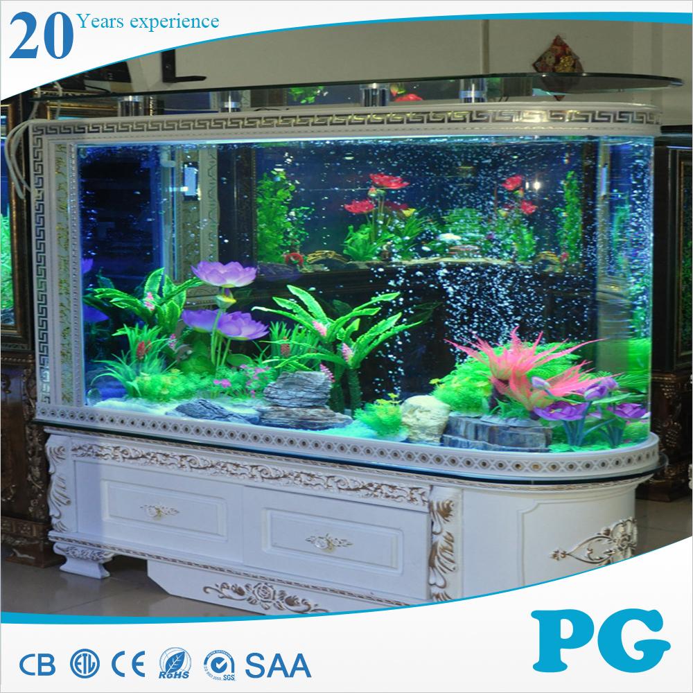 Pg vaso acrilico acquario di pesci finti con filtro for Pesci per acquario piccolo