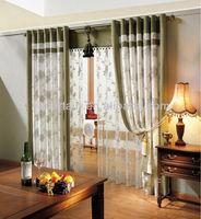eyelet blackout fabric window curtain with sheer