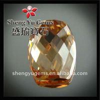 special shape champagne CZ stone imitation jewellery making bead CZSP0011#15