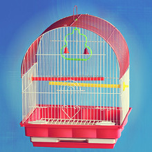 Foldable decorative steel wire mesh metal bird house bird cage
