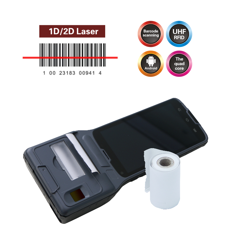 CILICO CM550 handheld barcode scanner printer with 1D/2D barcode scanner and finger printer 3g wifi