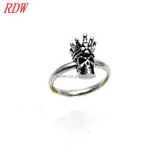 RDW Ring Jewelry Unique Male Ring Designs Metal Male Skull Ring With Cool Model