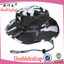 Best Wholesale Camo Design Adjustable Bucket Hat Breathable Eyelet Attached Fisher Hat
