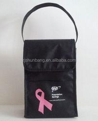fashion non woven bag for shopping promotion orange customer's logo printed non woven bag non woven zipper tote bag