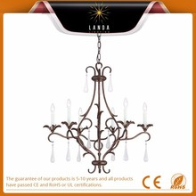 2015 Popular Gilded Bronze Six Light One Tier Chandelier High quality