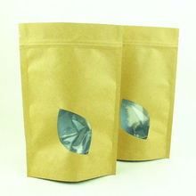 stand up ziplock brown kraft food paper bag