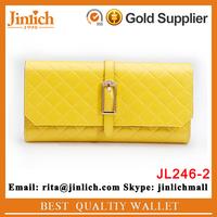 Top design female candy color wallet 3 folding standard size women handbag