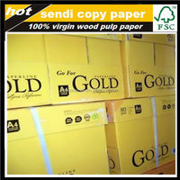 2015 hot sale! paperline 80gsm gold a4 copy paper with lowest price