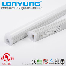 New style 20w 1500mm transparent ends tube t5 integration led CE& Rohs LED tube fixture