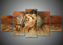 Man and Woman Kiss oil painting on canvas