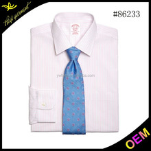 2015 new style high quality 100% cotton designer shirt for men with pink stripe