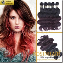 wholesale Price for hail extensios mumbai india 12-34 inch body hair ombre color