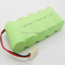 6v battery NIMH C 6.0V 2500mAh battery pack