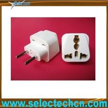 Universal 4.0mm 10A universal to two pin Eu plug adapter with CE SE-UA9C