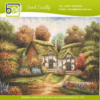 countryside forest quite house beautiful NATURAL RUBBER scenery floor mat
