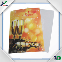 good printing clear flip effect plastic 3D lenticular card with 3D picture