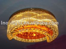 moon crystal round chandelier ceiling lighting