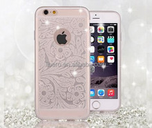 100% Fit Rubber Case For iphone6 Mobile Phone Cover;Cute Transparent Case For iphone6