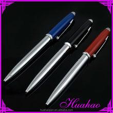 Pens metal twist leather pen in velvet pouch china factory audit OEM laser engrave logo imprint pen