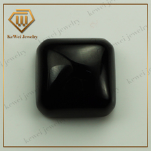 Smooth surface square shape synthetic stone cubic zirconia price black CZ stone