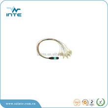 MPO patch cord hydra MPO APC to 24 LCAPC on 0.9mm buffered SM fiber, 0.5m