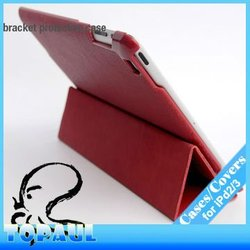 Luxury colorful genuine pu leather sleeve for ipad mini