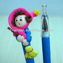 Newest pretty promotional holiday gift clay pen yiwu