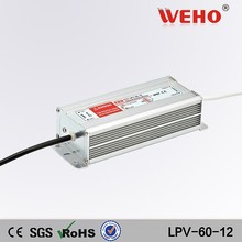 waterproof led driver 60w LPV-60-12 12v dc a high current power supply