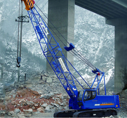 High popularity mobile telescopic crawler crane manufacturer from crane origin 55 ton QUY55