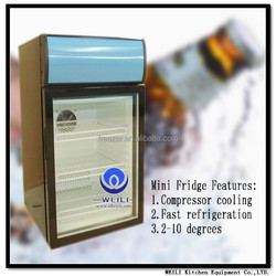 China WEILI hot sale new product home/hotel appliance mini refrigerator/fridge/cooler