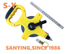 ABS frame 30m50m100m long measure tape,building construction measuring tape,steel blade long tape measure