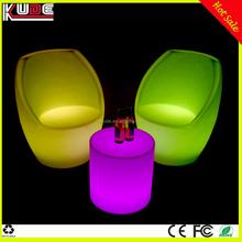 hot selling glowing plastic led furniture illuminated beautiful sofa