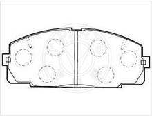 D1344 / MKD2104 / GDB2059 Semi - metallic Toyota hiace pastillas de freno