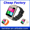 Pedometer wrist watch mobile phone / Latest price of smart watch phone / Low cost mobile watch phone with video call