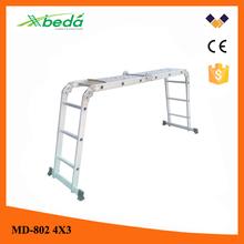 folding aluminum motorcycle ladder Adjustable low price folding construction ladder (MD-802 4x3)