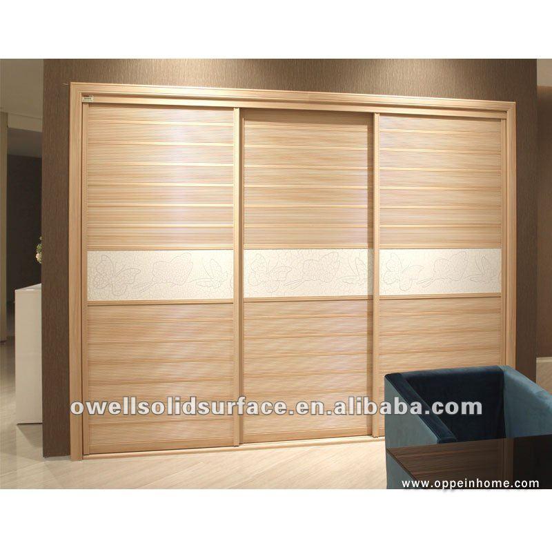 Moderno oppein muebles del dormitorio 3 puertas correderas for Roperos de madera para dormitorios