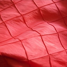 cheap red pintuck taffeta fabric for sale
