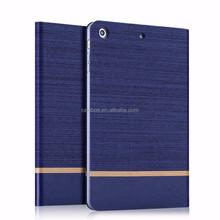 Top Grade Customize canvas flip case cover for iPad mini 2