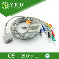 Nihon Kohden 9130 ekg cable with din 3.0,AHA,CE&ISO13485 approved.