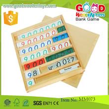 مونتيسوري خشبية الرياضيات لعبة تعليمية لعبة لعبة البنك