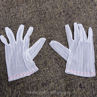 Antistatic Glove polyester fabric+conductive yarn