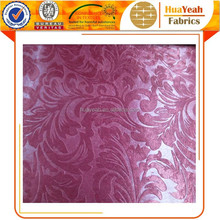 turkey style luxury flower embossed blackout curtain fabric in china